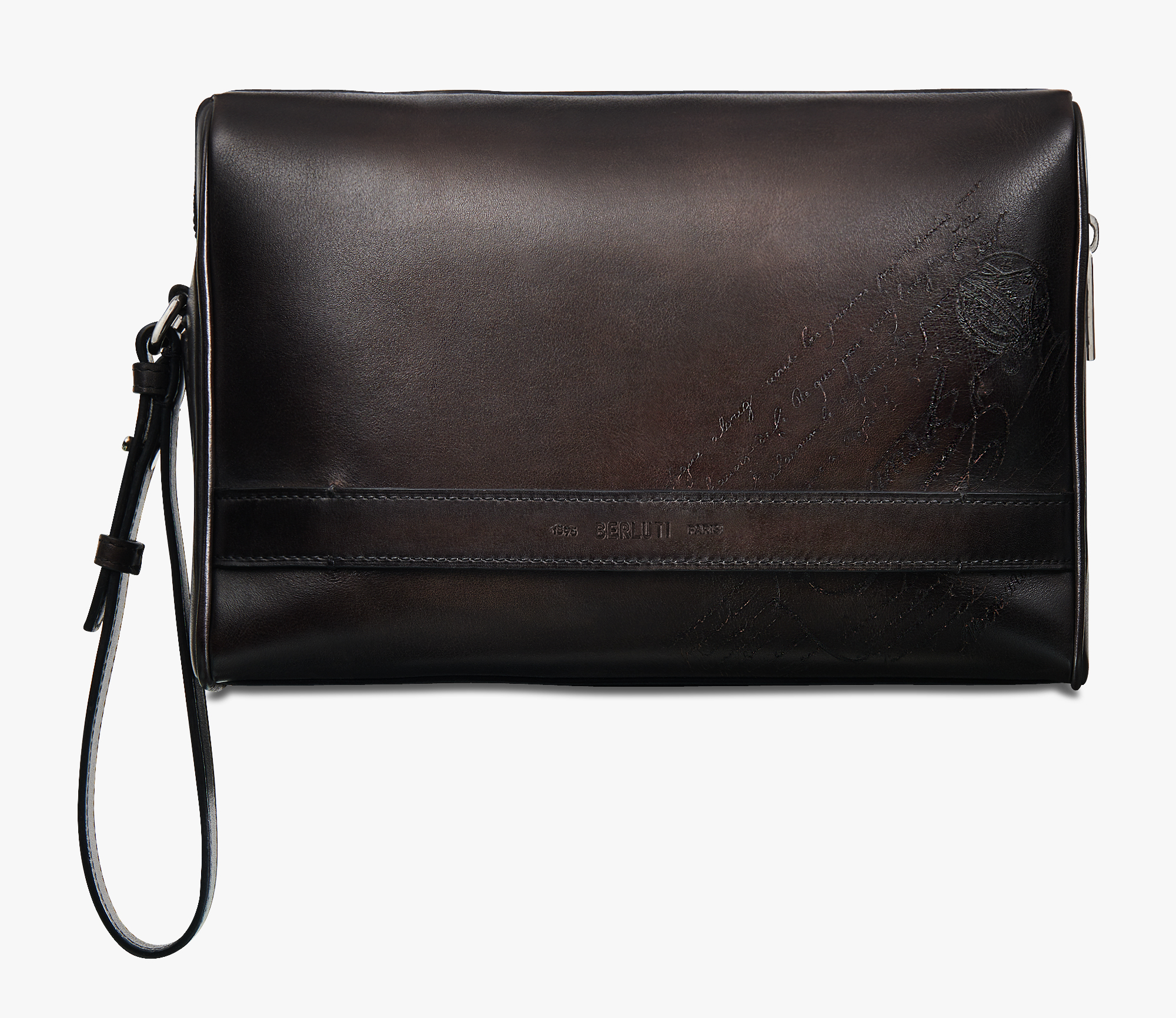 Rosewood Scritto Swipe Leather Pouch, ICE BLACK, hi-res