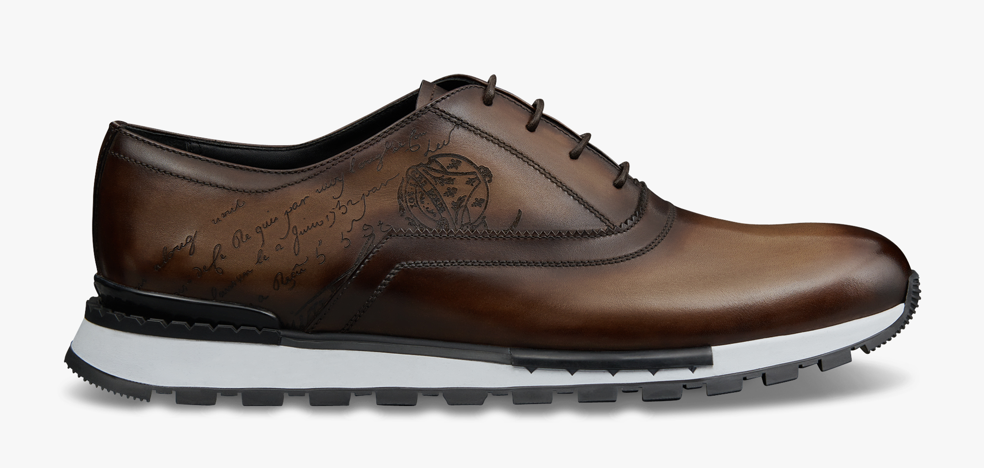 Sneaker Fast Track En Cuir Scritto, EARTH BROWN, hi-res