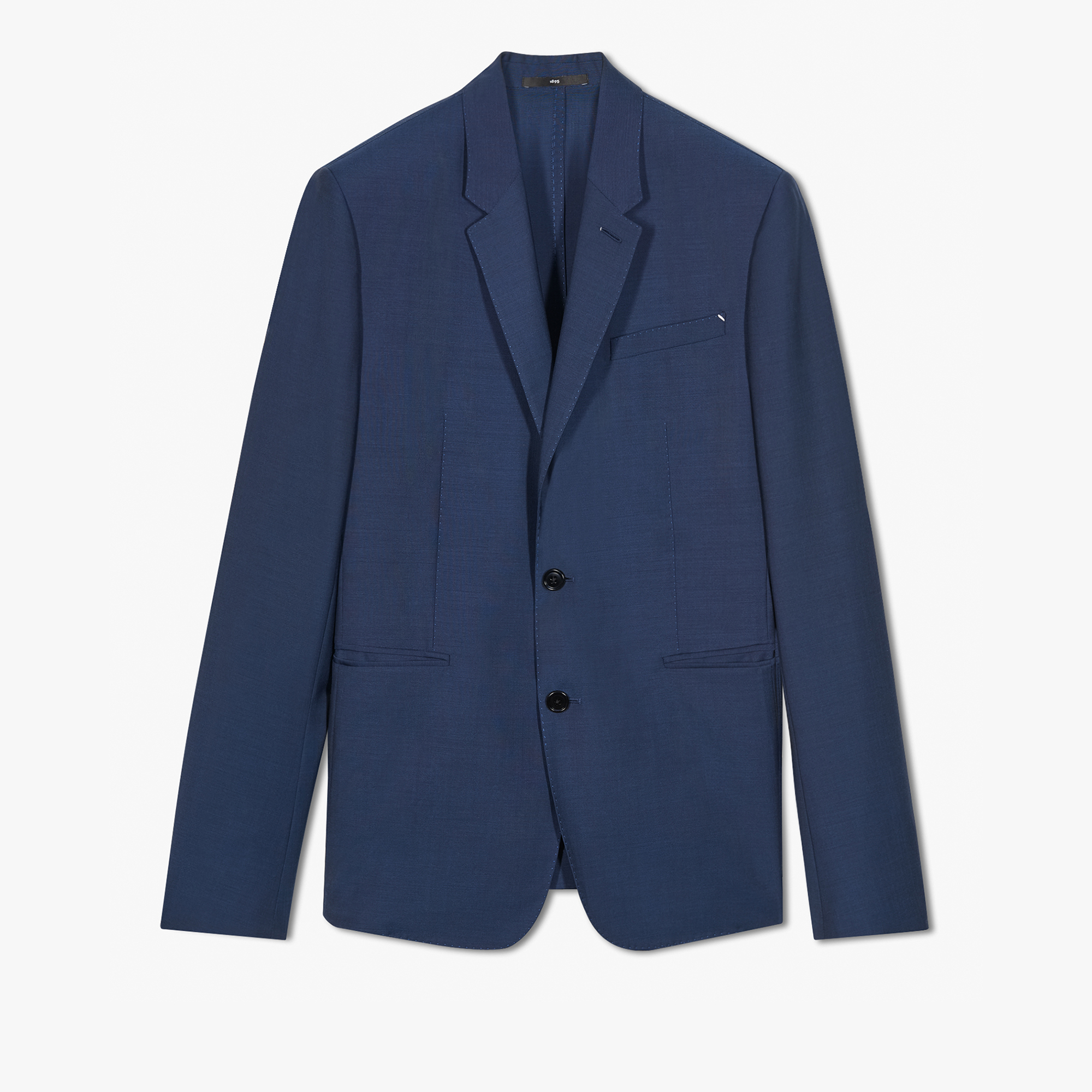 Unlined Wool Jacket, SPACE BLUE, hi-res