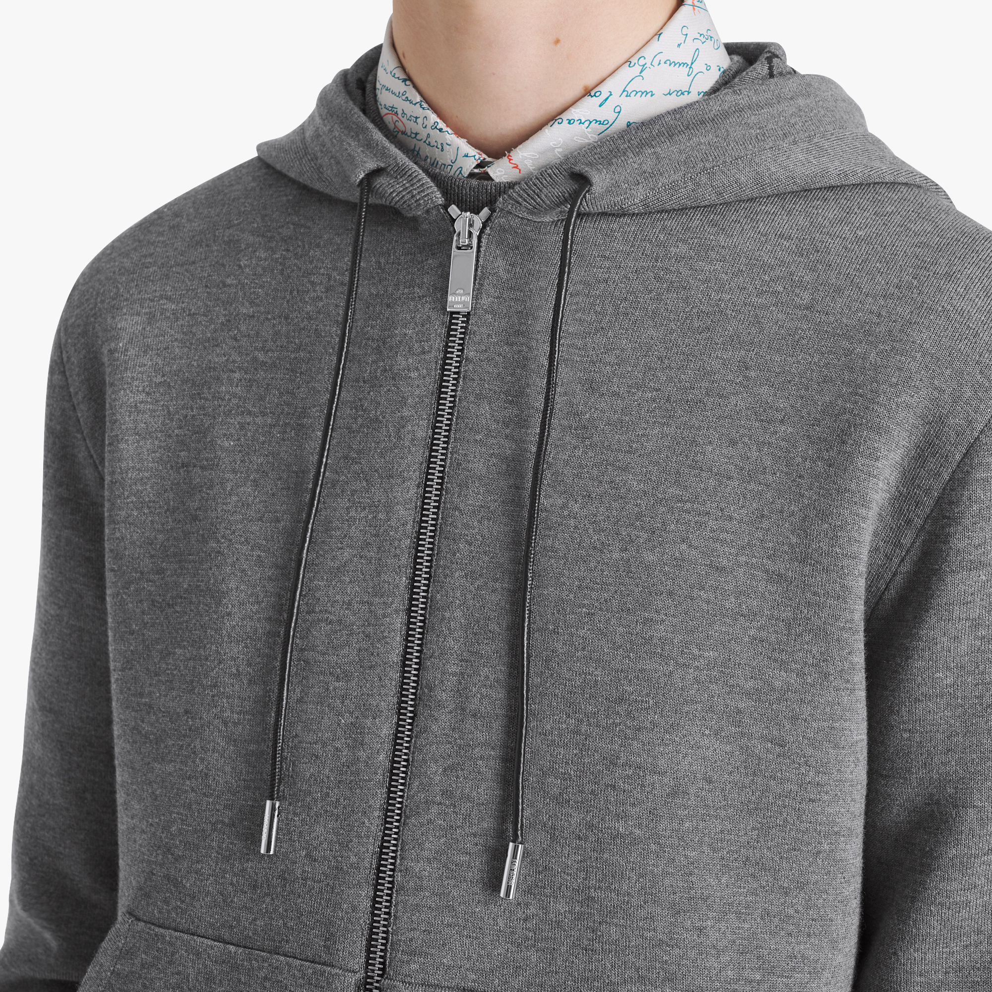 Light Wool Double Face Hoodie