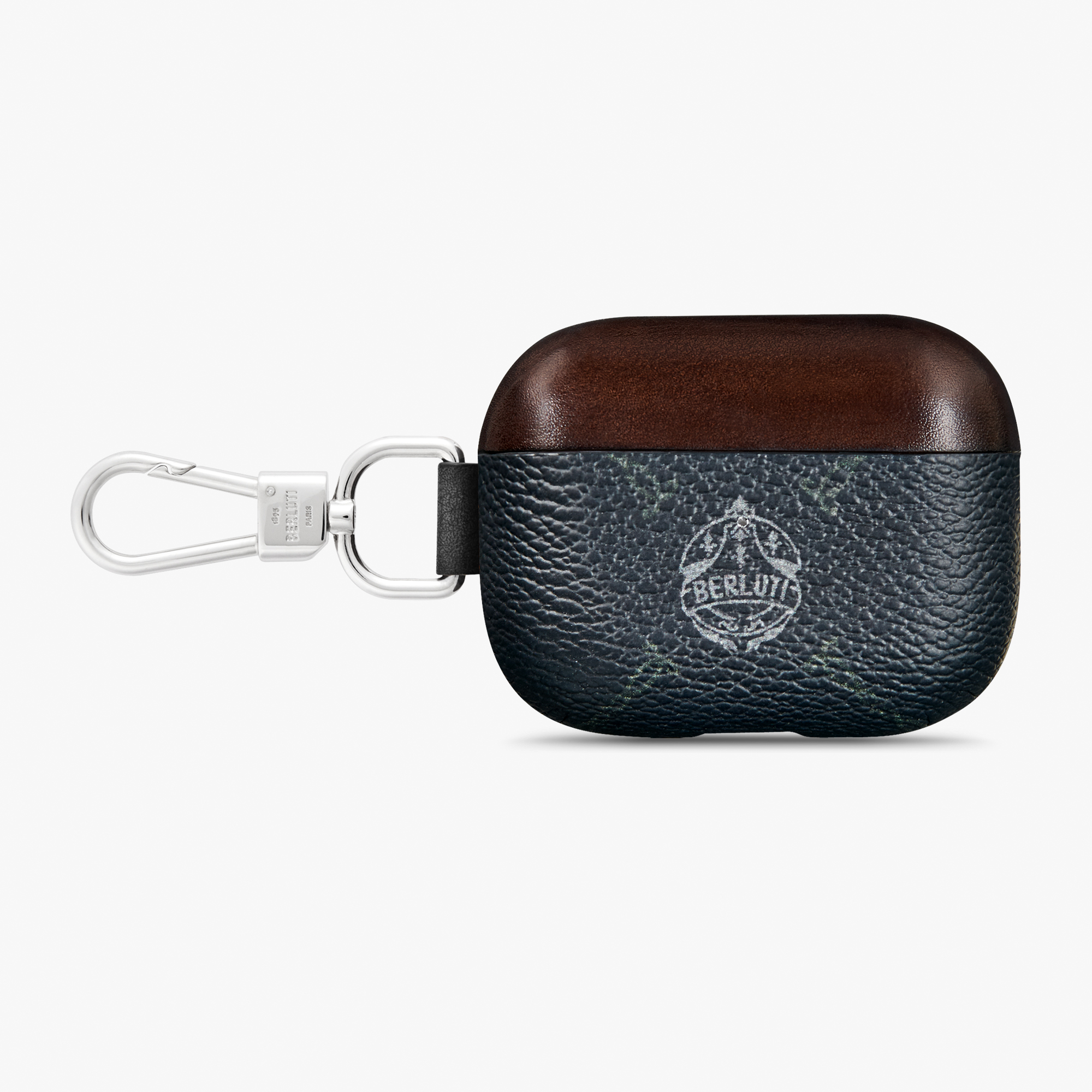 Signature Canvas And Venezia Leather Airpod Case Pro, BLACK + TDM INTENSO, hi-res