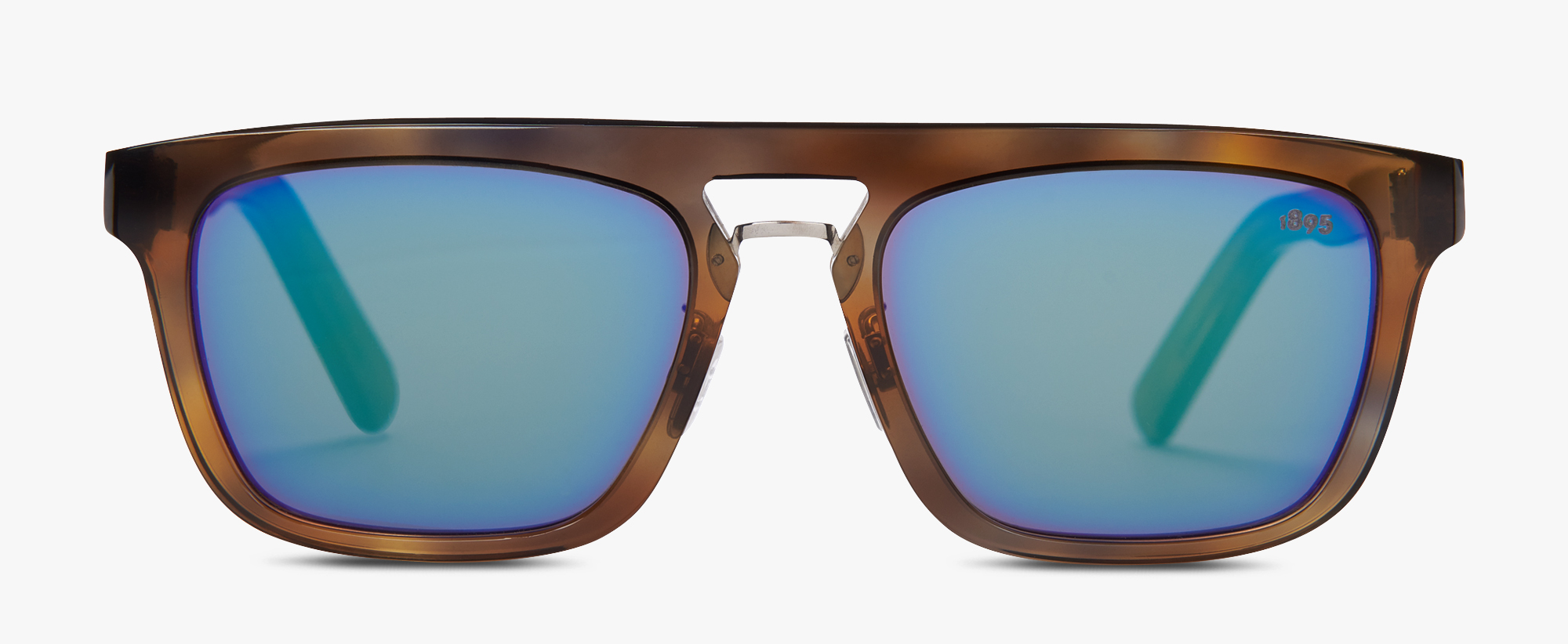 Acetate And Metal Magnetic Eyewear , SHADED HAVANA + DEEP GREEN, hi-res