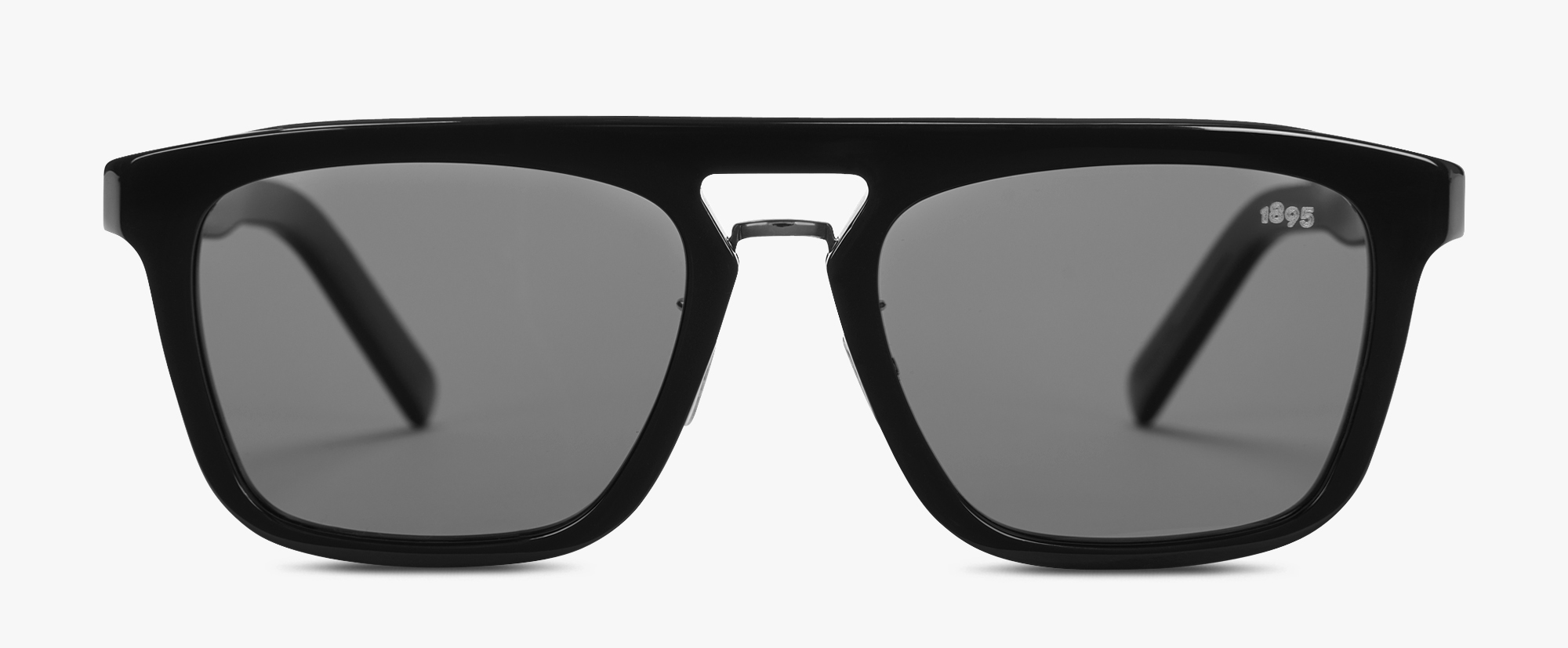 Acetate And Metal Magnetic Eyewear , BLACK + SMOKE POLAR, hi-res