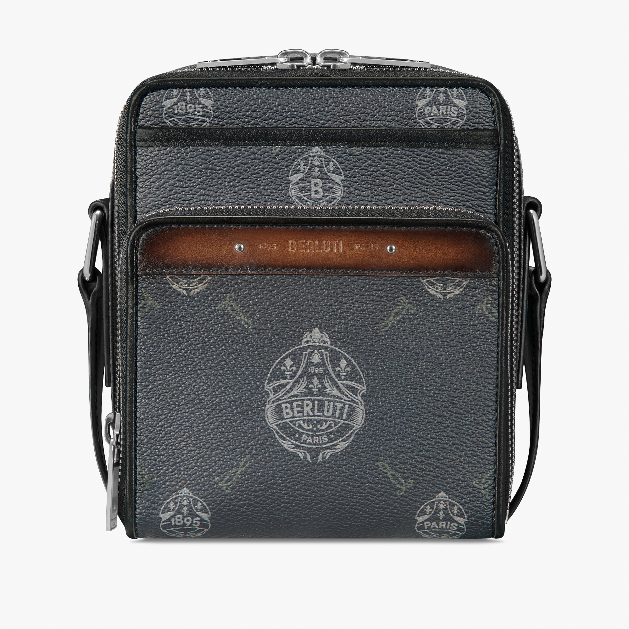 Miles Canvas and Leather Messenger, BLACK + TDM INTENSO, hi-res
