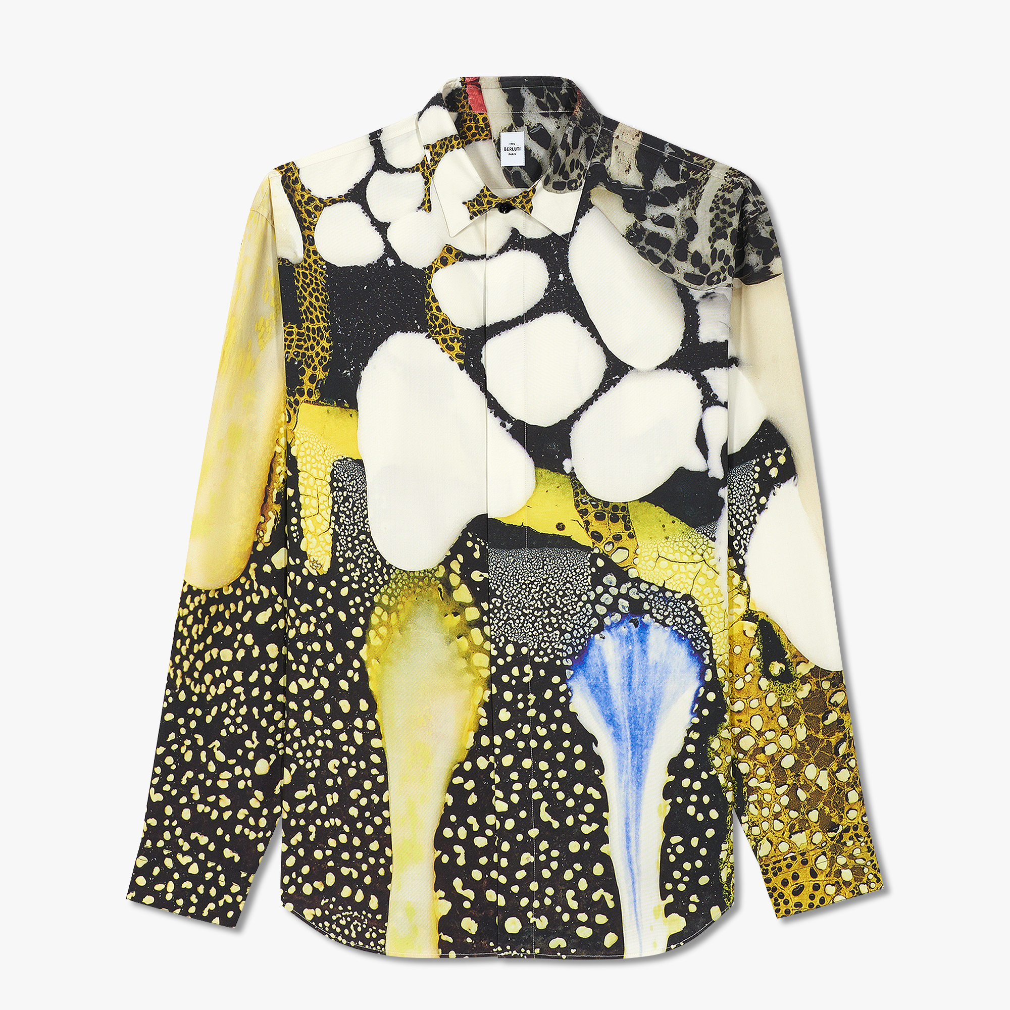 Brian Rochefort Printed Silk Shirt, BR 1 YELLOW, hi-res