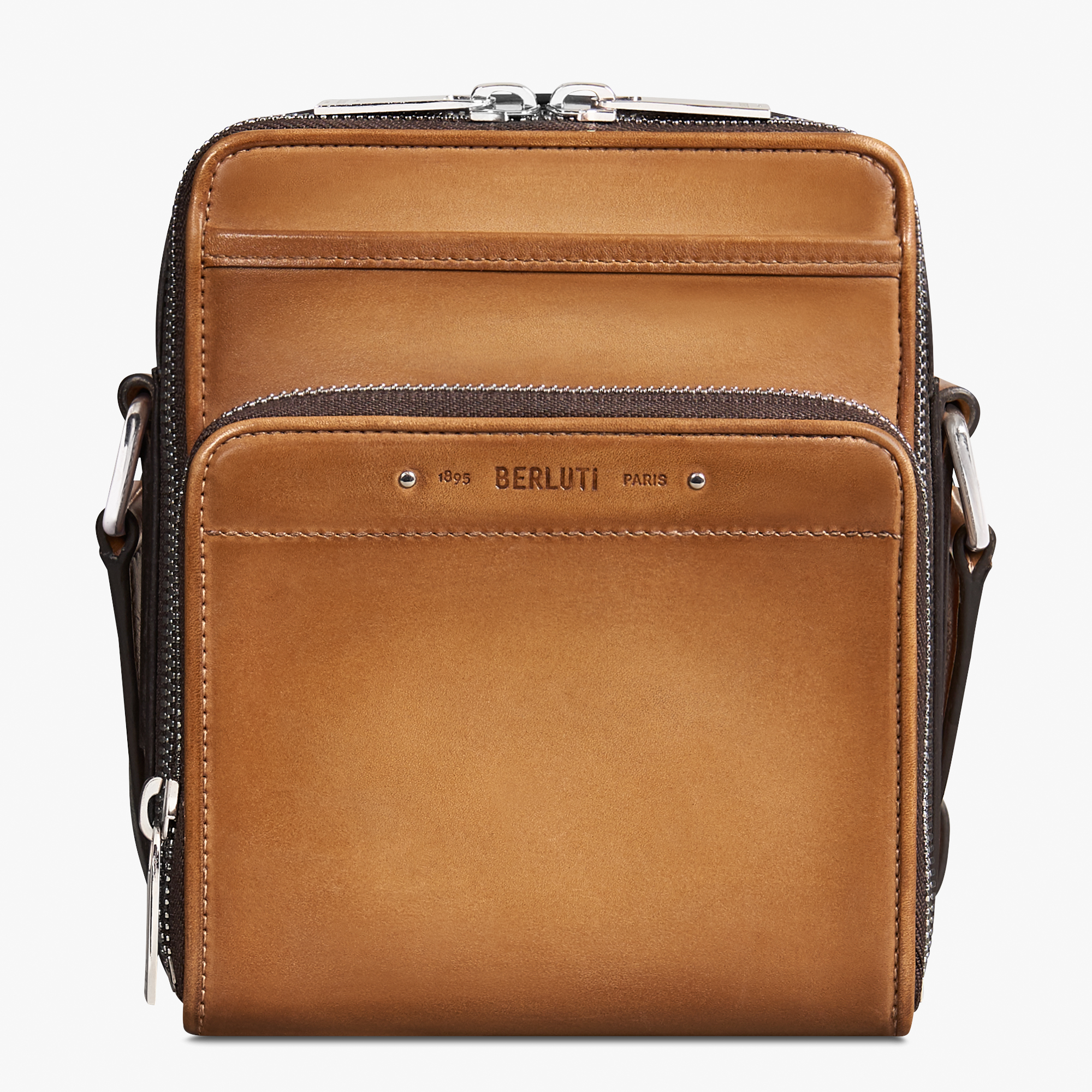 Miles Leather Messenger, CAMEL, hi-res