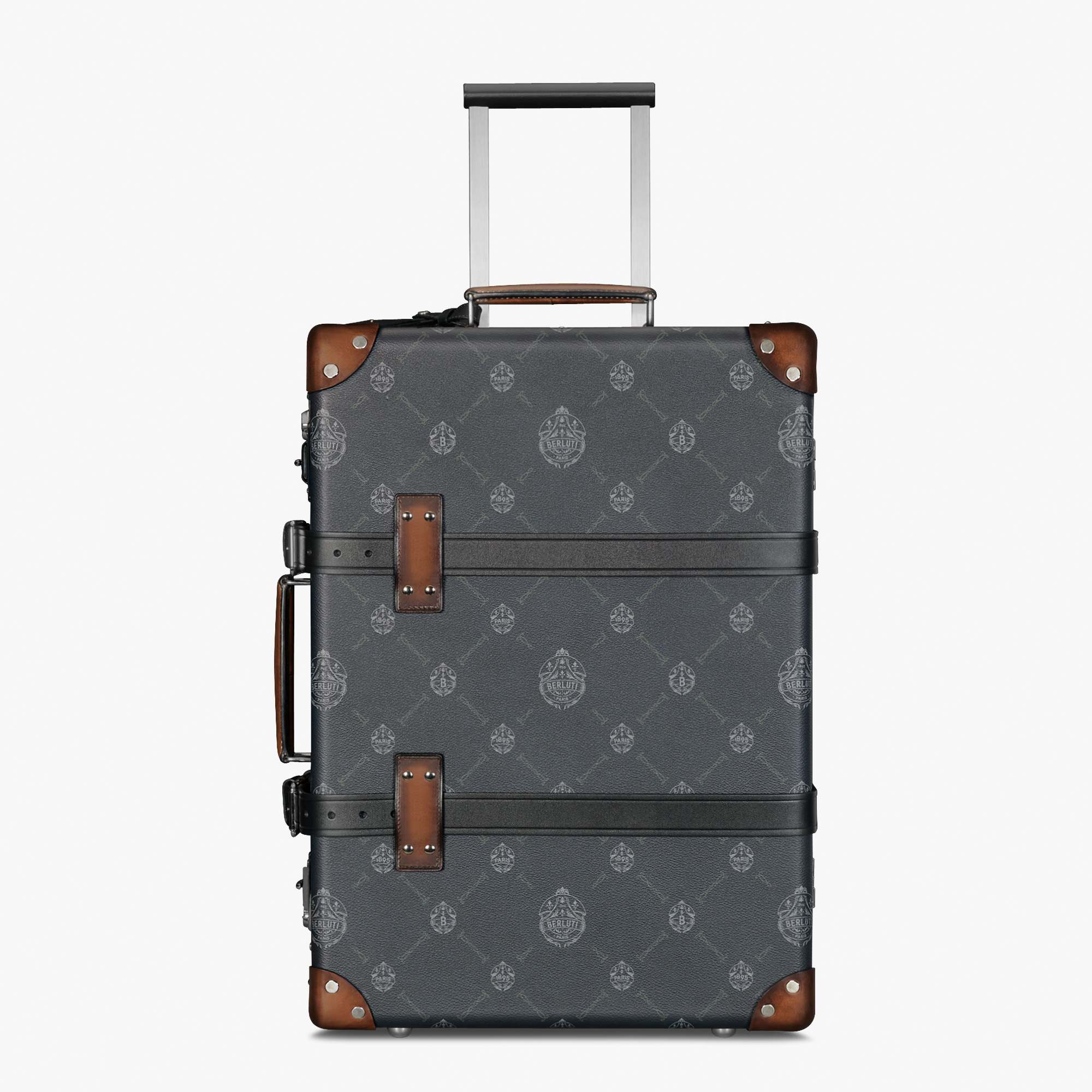 Bagage Roulant Carry On En Toile Et Cuir Globe-Trotter, BLACK + TDM INTENSO, hi-res